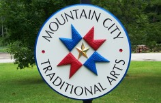 Mountain City Traditional Arts Sign