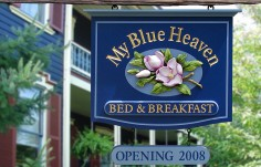 My Blue Heaven Bed and Breakfast sign