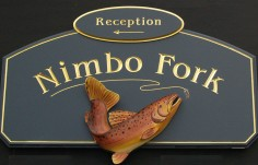 Nimbo Fork Lodge Sign