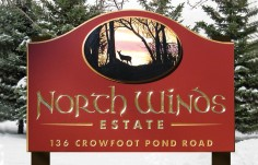 North Winds Property Sign