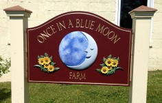 Once in a Blue Moon Farm Sign