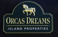 Orcas Dreams Business Sign