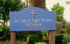 Our Lady of Angels Preschool Sign