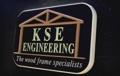 KSE Engineering Company Sign | Danthonia Designs