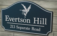 Evertson Hill Property Sign | Danthonia Designs