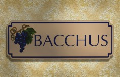 Bacchus House Sign | Danthonia Designs