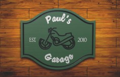 Paul's Garage Man Cave Sign