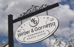 Winter and Garnetta Retail Sign