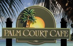 Palm Court Cafe Sign