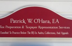 Patricke O'Hara Professional Business Sign