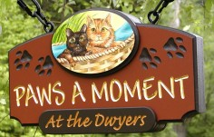 Paws a Moment Pet Sign