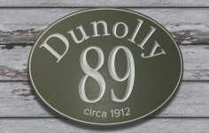 Dunolly House Number Sign | Danthonia