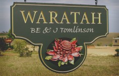 Waratah Property Sign