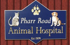 Pharr Road Animal Hospital Sign