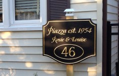 Piazza House Sign | Danthonia Designs