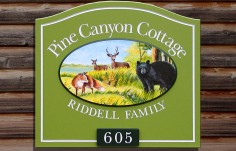 Pine Canyon Cottage Sign