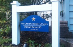 Pine Grove Computer Services Business Sign