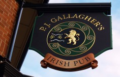 PJ Gallaghers Pub Sign