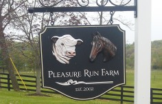 Pleasure Run Farm Sign
