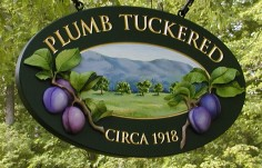 Plumb Tuckered House Name Sign