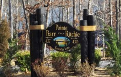 Pointe Barr Ritchie Sign on location