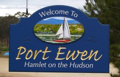 Port  Ewen Town Entry Sign