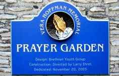 Prayer Garden Church Welcome Sign
