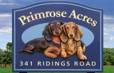 Primrose Acres Animal Sign