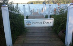 Private Dock Sign by the Water