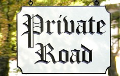 Private Road Street Sign