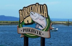 Pukavik Fish Camp Sign