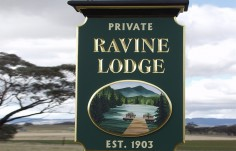 Ravine Lodge Property Sign