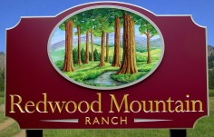 Redwood Mountain Ranch Sign