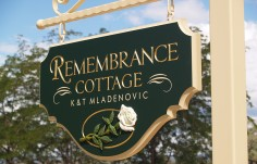 Remembrance Cottage Sign