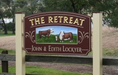 The Retreat Farm Animal Sign On Site