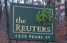 The Reuters Family Name Sign