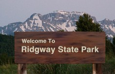 Ridgway  State Park and Trail Sign