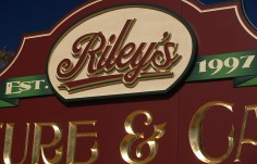 Riley's Furniture Retail Sign Detail