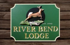River Bend Lodge Sign