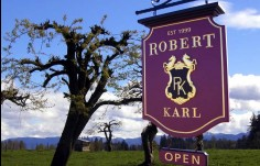 Robert Karl Winery Sign