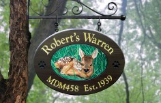 Robert's Warren Wildlife Sign