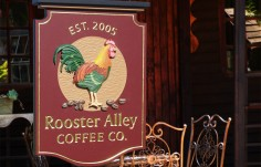 Rooster Alley Coffee Company Sign