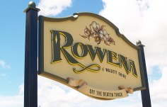 Rowena Town Entry Sign