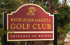 Ryde Parramatta Golf Club Signs