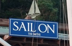 Sail On Dock Sign