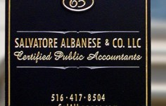 Salvatore Albanese Accountant Sign