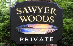 Sawyer Woods Country Sign