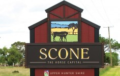 Scone Town Welcome Signs