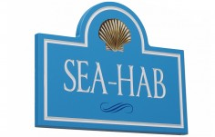 Sea Hab Beach House Sign
