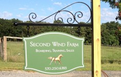 Second Wind Farm Sign On Location